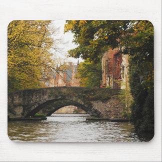 Bruges, Belgium Canals Mouse Pad