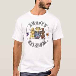 Bruges - Belgium Crest Emblem Men's Basic T-Shirt