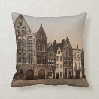 Bruges Library, Belgium Throw Pillows