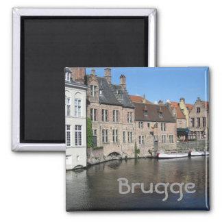 Bruges 2 Inch Square Magnet