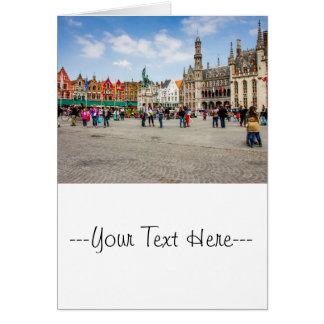 Bruges Market Place Photograph Card