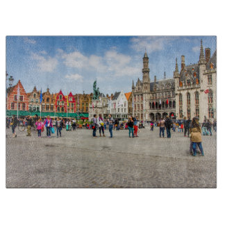 Bruges Market Place Photograph Cutting Board