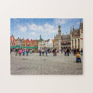Bruges Market Place Photograph Jigsaw Puzzle
