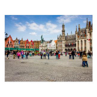 Bruges Market Place Photograph Postcard