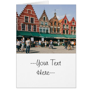Bruges Old Buildings, Travel Photography Card