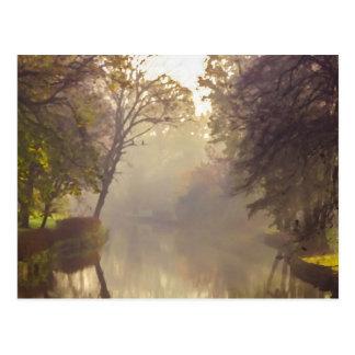 Bruges River Painting Postcard
