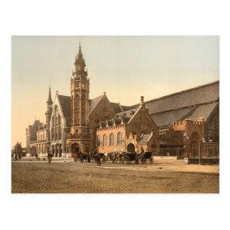 Bruges - the Station, Belgium Postcard