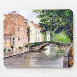 Bruges Watercolor Painting by Farida Greenfield Mouse Pad