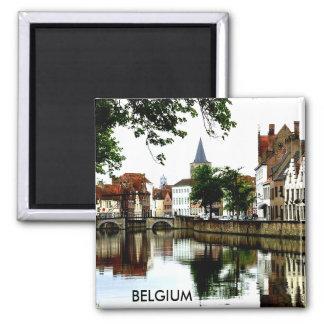 BRUGGE, BELGIUM 2 INCH SQUARE MAGNET