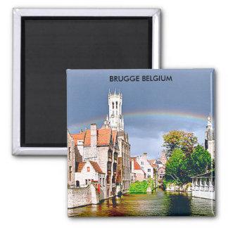 BRUGGE  BELGIUM 2 INCH SQUARE MAGNET