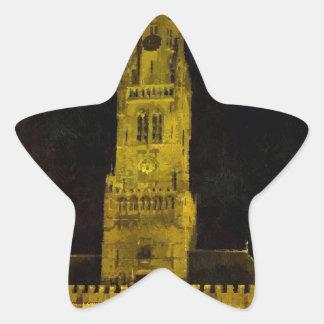 Brugge Belgium Star Sticker
