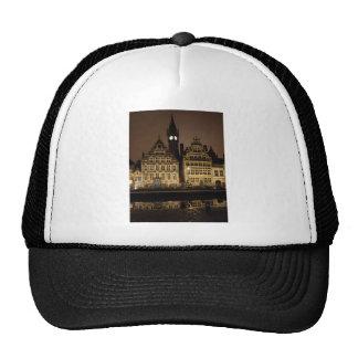 Brugge in the night trucker hat