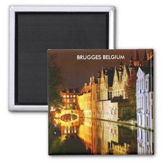 BRUGGES BELGIUM 2 INCH SQUARE MAGNET