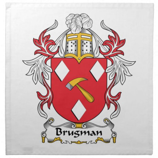 Brugman Family Crest Cloth Napkin