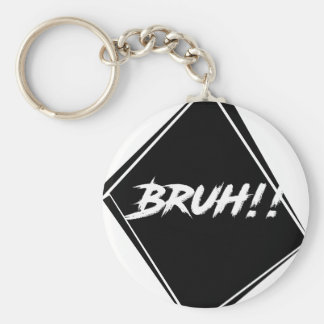 """Bruh"" Word Design Keychain"