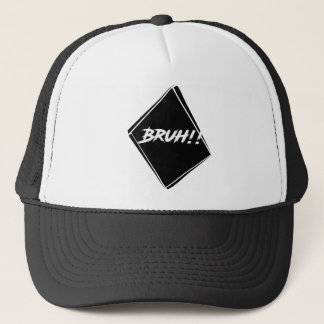 """Bruh"" Word Design Trucker Hat"
