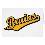 Bruins in Orange Greeting Cards