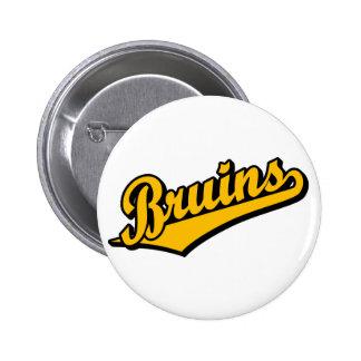 Bruins in Orange Pinback Button