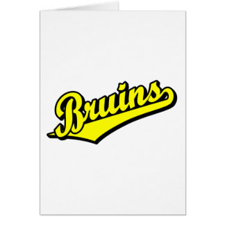 Bruins in Yellow Greeting Card