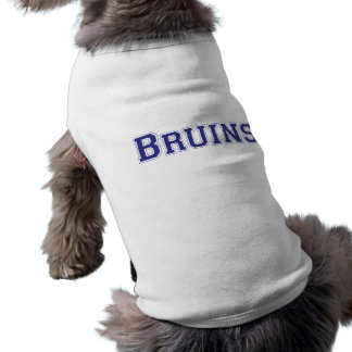 Bruins square logo in blue shirt