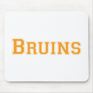 Bruins square logo in orange mouse pad