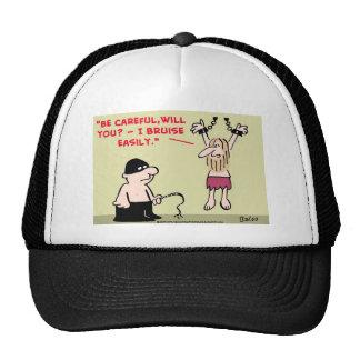 BRUISE EASILY PRISONER DUNGEON TRUCKER HAT