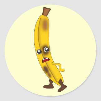 Bruised Banana: Bad Fruit Gang Classic Round Sticker