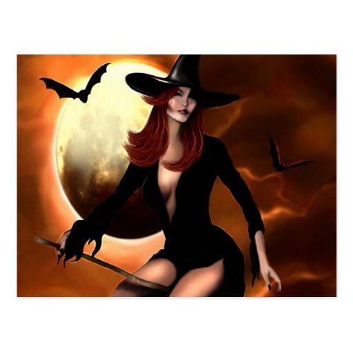 Bruja 2005 de Halloween Postal