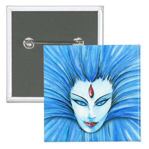 Bruja azul pin