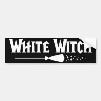 Bruja blanca pegatina para auto