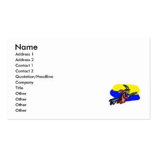 Bruja colorida plantillas de tarjeta de negocio