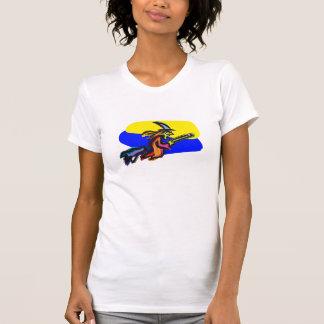 Bruja colorida camisetas