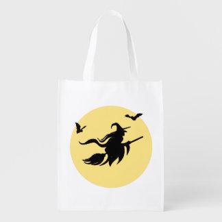 Bruja de Halloween Bolsas Para La Compra