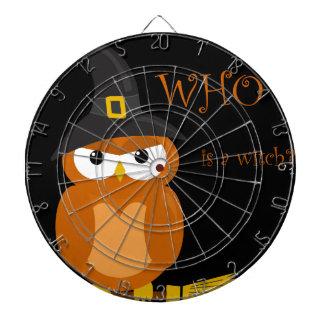 Bruja de Halloween - búho anaranjado