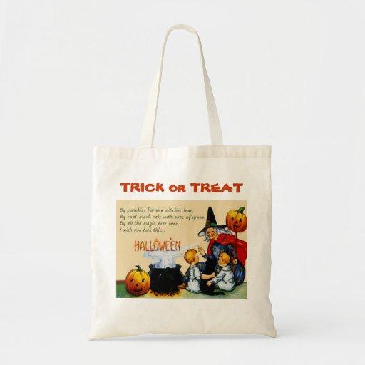 Bruja de Halloween, calabaza, truco de los niños o Bolsa Tela Barata