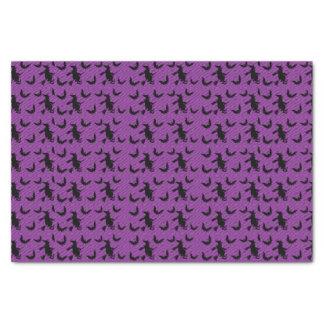 Bruja de Halloween con el papel seda del fiesta de Papel De Seda Pequeño
