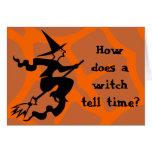 Bruja de Halloween de la criba Tarjeta De Felicitación
