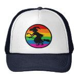 Bruja de Halloween del arco iris Gorros