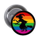 Bruja de Halloween del arco iris Pins