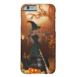 Bruja de Halloween del otoño