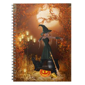 Bruja de Halloween del otoño Cuaderno