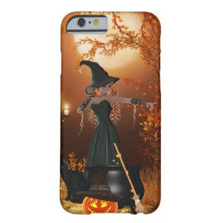Bruja de Halloween del otoño Funda Para iPhone 6 Barely There
