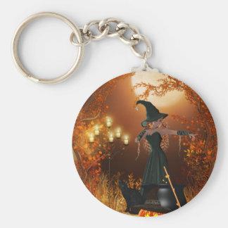 Bruja de Halloween del otoño Llavero Personalizado