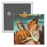 Bruja de Halloween del vintage Pins