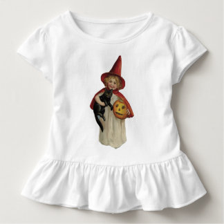 Bruja de Halloween del vintage T-shirts