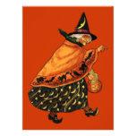 Bruja de Halloween del vintage vieja