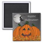 Bruja de Halloween en vuelo Imán Para Frigorifico