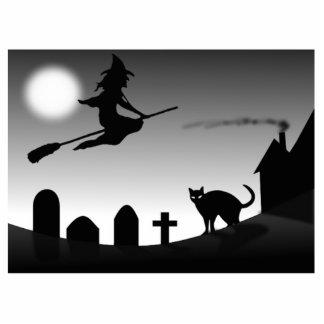 Bruja de Halloween Escultura Fotográfica