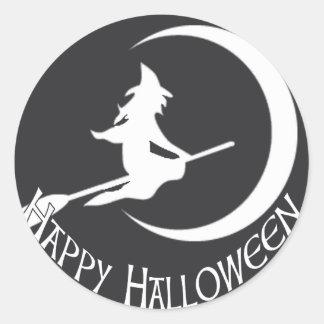 Bruja de Halloween Pegatina Redonda