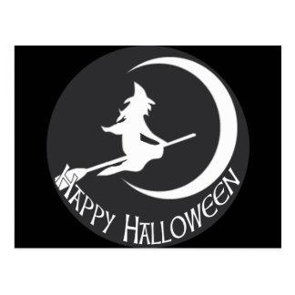 Bruja de Halloween Postal